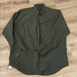 [Arrow] Men's Olive Dress Shirt -Large